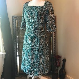 Banana Republic Square Neck Lined Shealth Dress